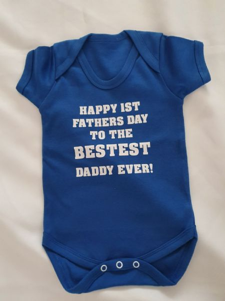 First Father's Day Personalised Baby Vest